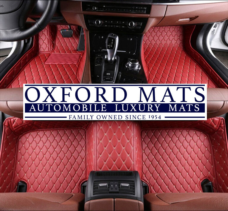 Maroon OxFord Mats Custom Leather Car Mats
