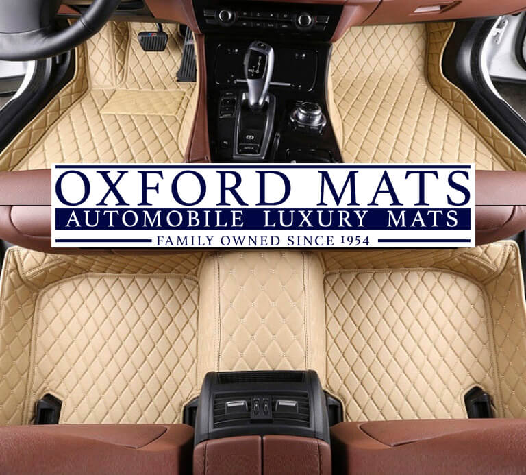 Beige OxFord Mats Custom Leather Car Mats