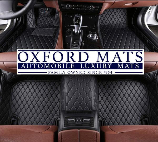 Black with Black Stitching OxFord Mats Custom Leather Car Mats