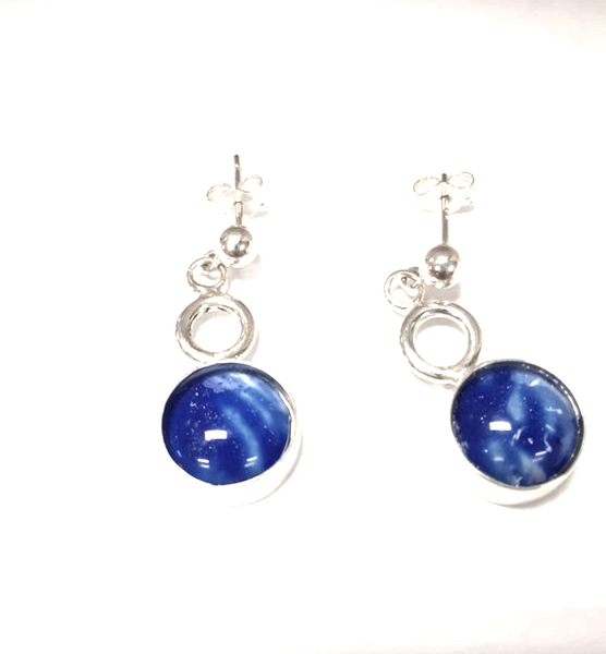 Sterling Silver Loop Drop Earrings