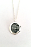 Silver Plated Oval Pendant