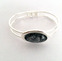 Silver Plated Spring Bangle