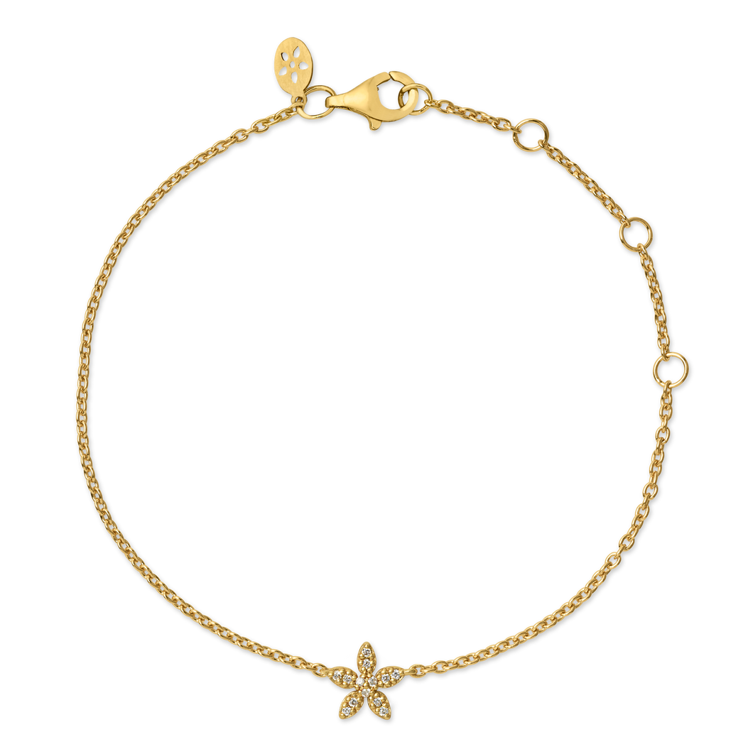 Forget-Me-Not diamant bracelet - solid gold