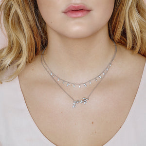 Jungle Ivy sparkle necklace  - silver (Pre-order)