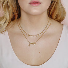 Load image into Gallery viewer, Jungle Ivy sparkle necklace - gold (Pre-order)