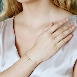 Fine - Heart bracelet - solid gold