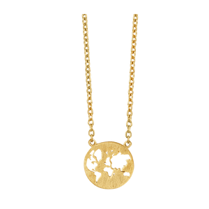 Fine - Beautiful World necklace - solid gold