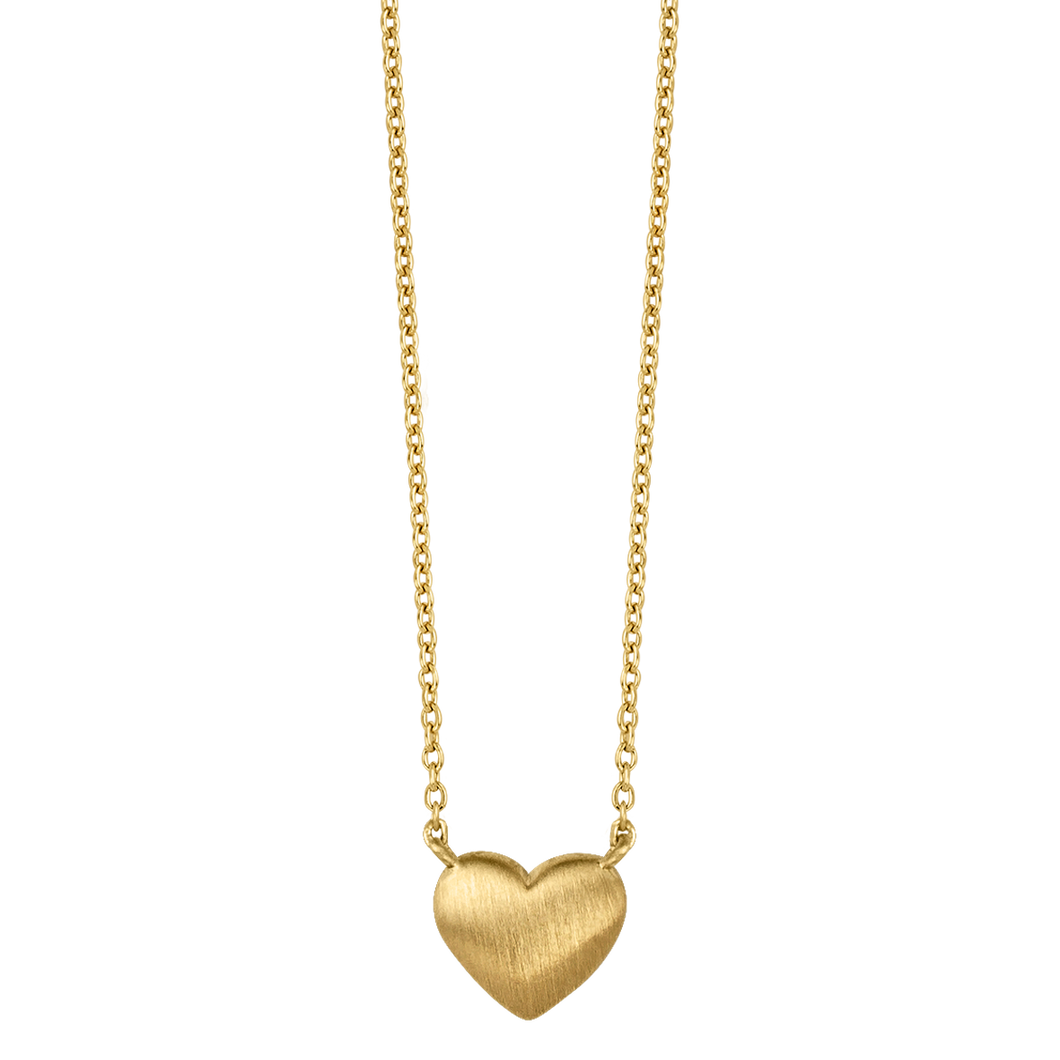 Fine - Heart necklace - solid gold