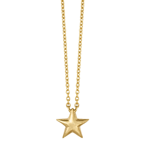 Fine - Star necklace - solid gold