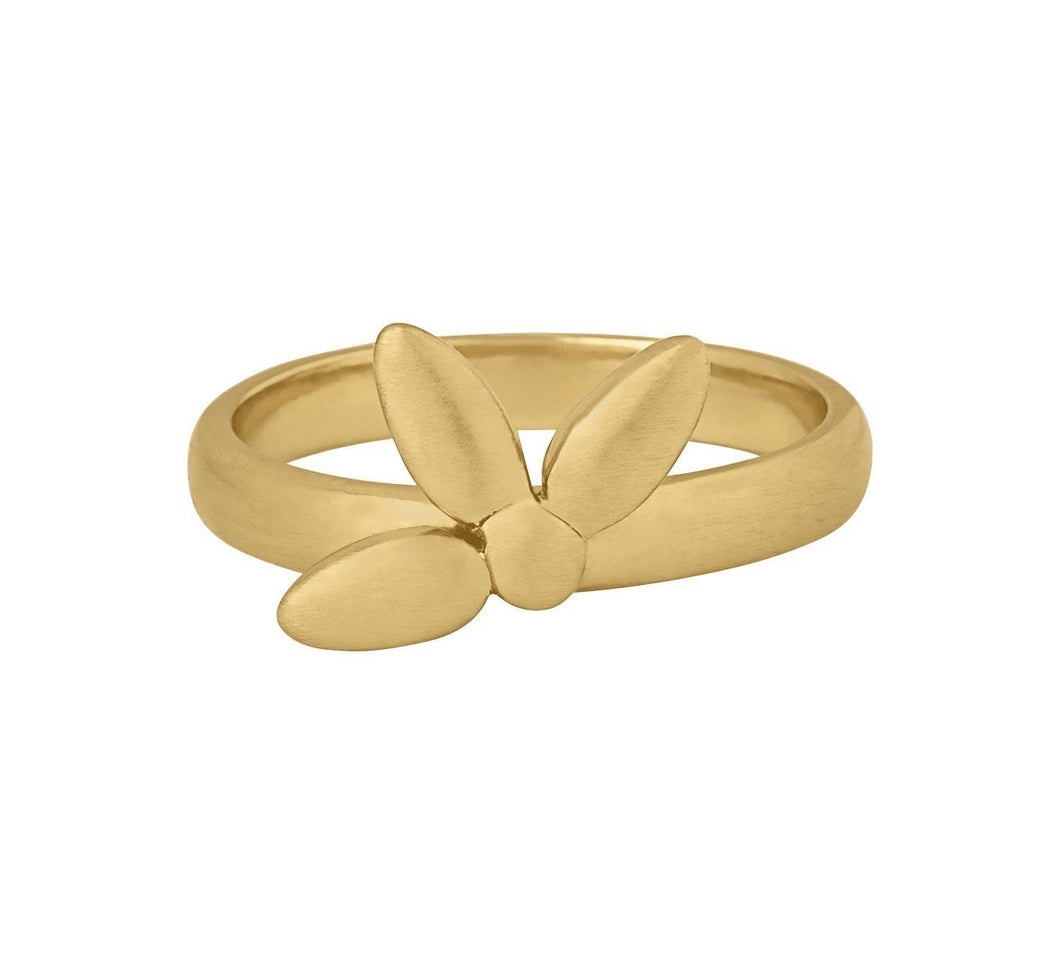 Mega forget-me-not ring (small) - gold
