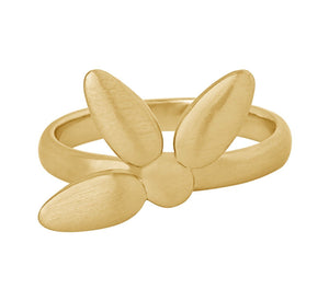 Mega forget-me-not ring large - gold