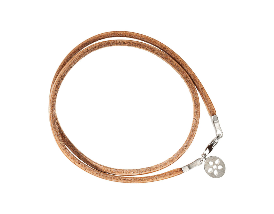 Leather bracelet - brown