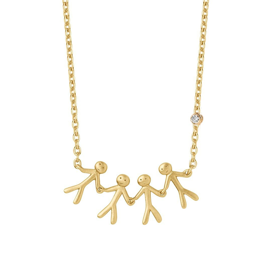 Fine - Family 4 necklace - solid gold