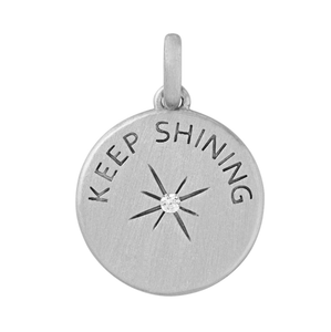 Keep Shining pendant - silver