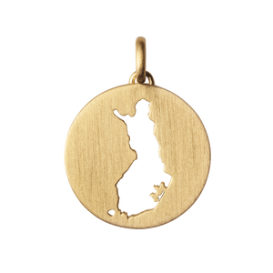 Beautiful Finland pendant - gold