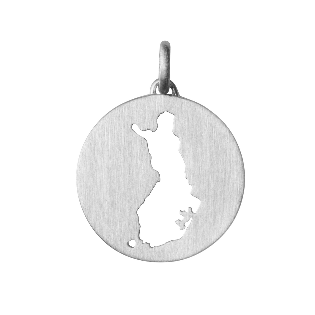 Beautiful Finland pendant - silver