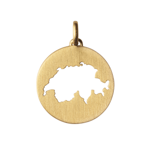 Beautiful Switzerland pendant - gold