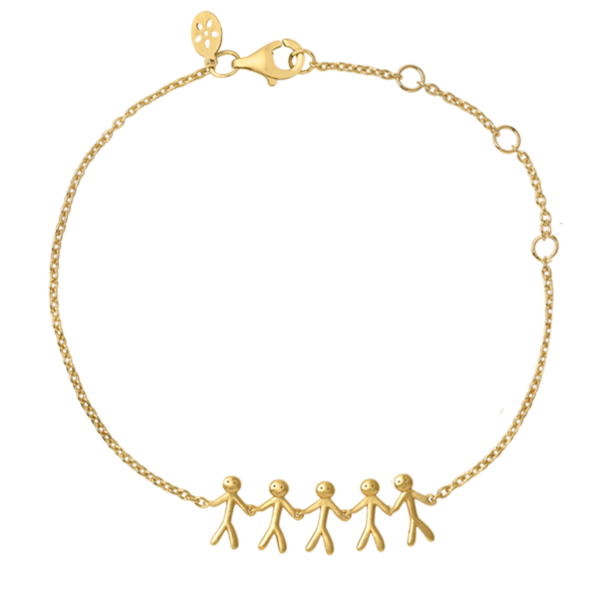Fine - Family 5 bracelet - solid gold