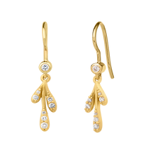 Load image into Gallery viewer, Forest sparkle small earring - gold