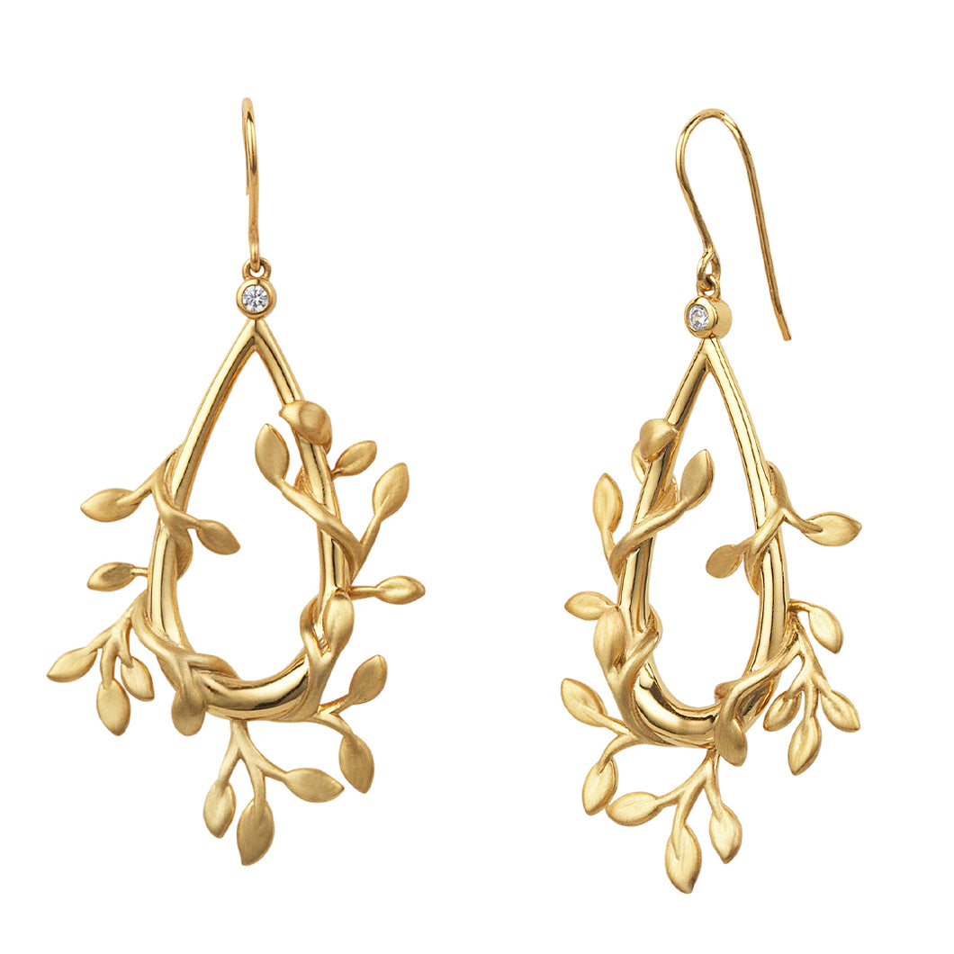 Jungle Ivy earrings show