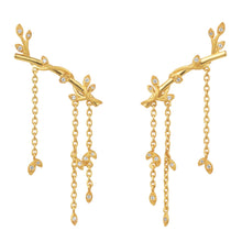 Load image into Gallery viewer, Jungle Ivy earring sparkle large - gold
