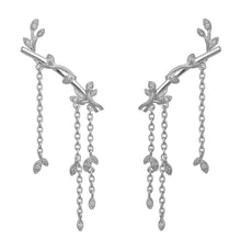 Load image into Gallery viewer, Jungle Ivy earring sparkle large - silver