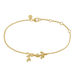 Jungle Ivy sparkle bracelet - gold (Pre-order)