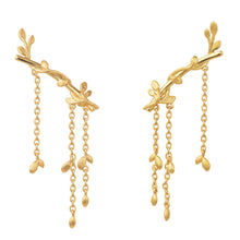 Load image into Gallery viewer, Jungle Ivy earring large - gold