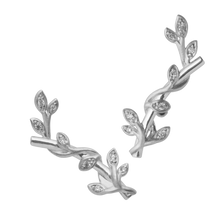 Load image into Gallery viewer, Jungle Ivy sparkle earring - silver