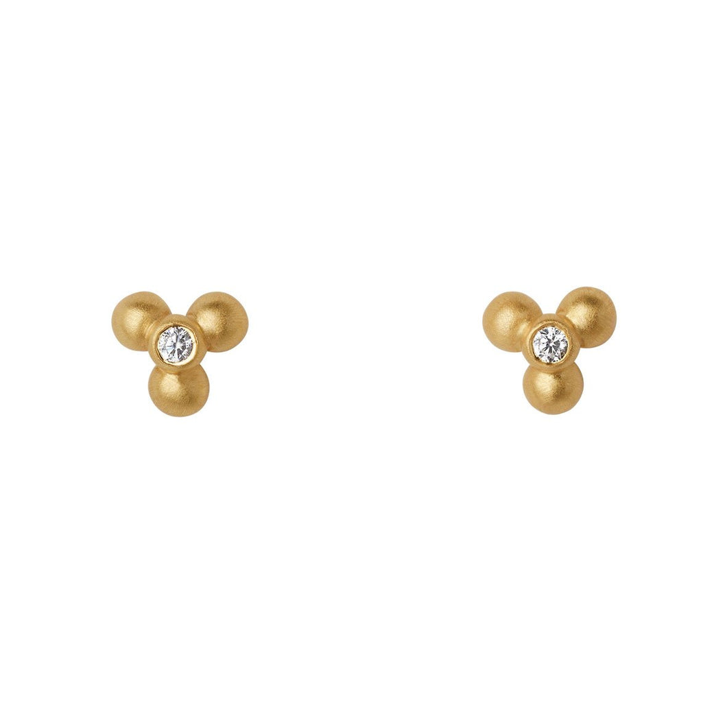 Pebbles earrings - gold