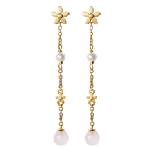 Load image into Gallery viewer, Posy earhanger pink - gold