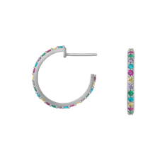 Load image into Gallery viewer, Rainbow sparkle hoops