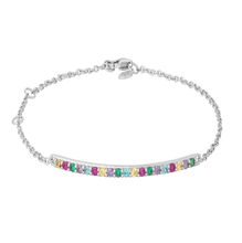 Load image into Gallery viewer, Rainbow sparkle bracelet - silver
