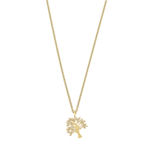 Tree of Life diamond necklace - solid gold