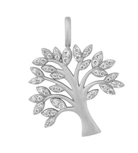 Load image into Gallery viewer, Tree of Life sparkle necklace - silver