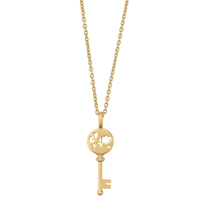 Unlock Adventures pendant - gold