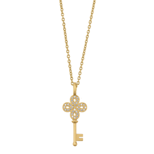 Unlock Happiness necklace - solid gold