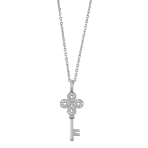 Unlock Happiness necklace - silver