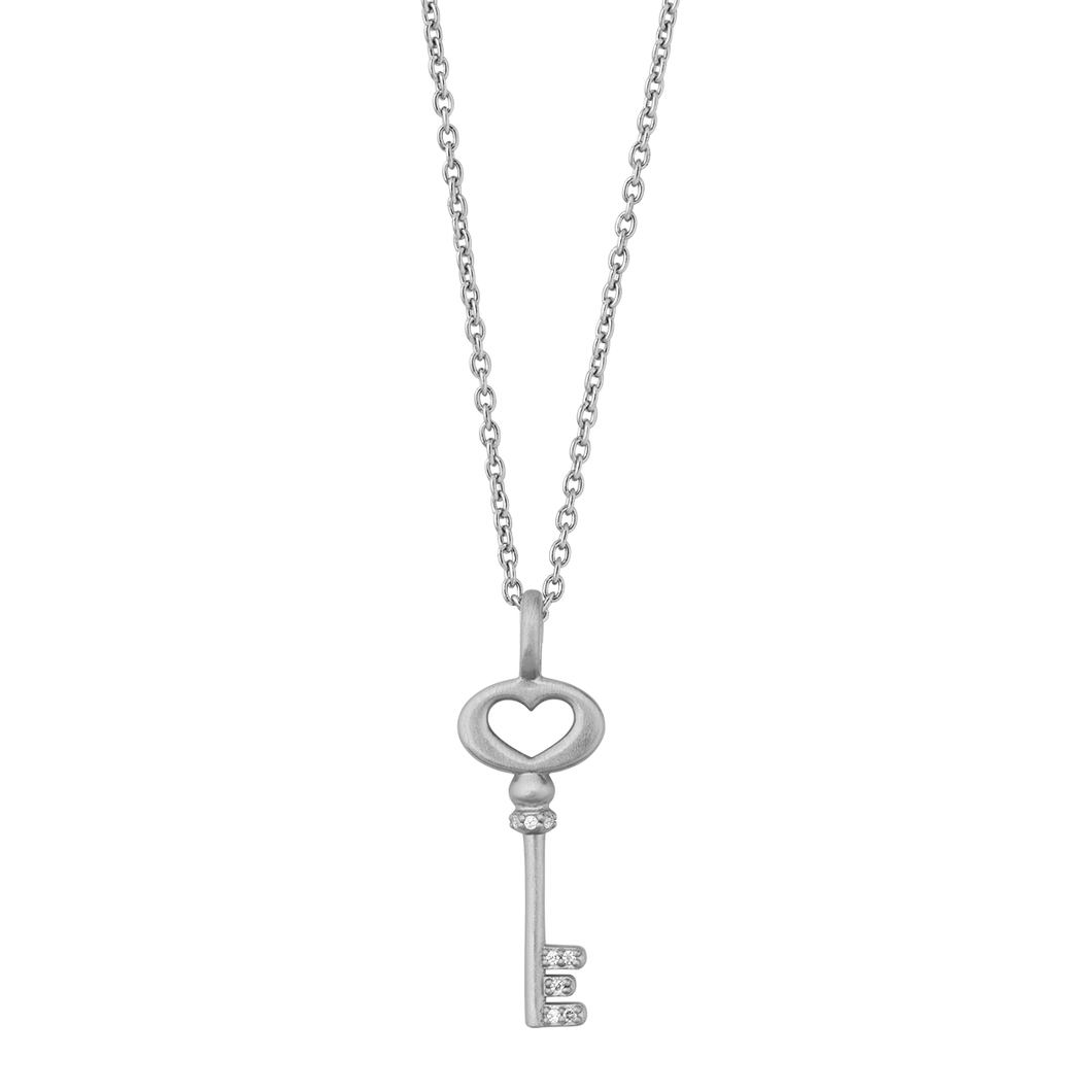 Unlock Love necklace - silver