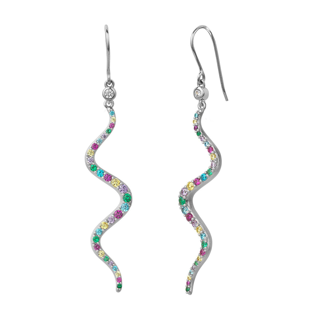Wave rainbow earrings
