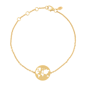 Beautiful World bracelet - solid gold