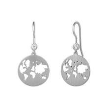 Load image into Gallery viewer, Beautiful World earring - silver