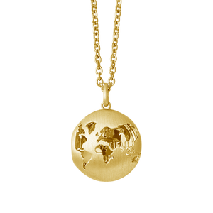 Beautiful World locket - gold