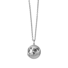 Load image into Gallery viewer, Beautiful World locket - silver