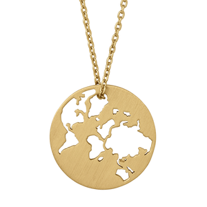 Beautiful World necklace 45 cm - solid gold