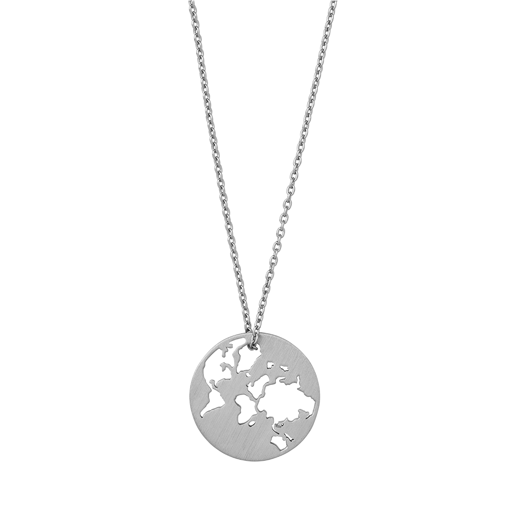 Beautiful World necklace - silver