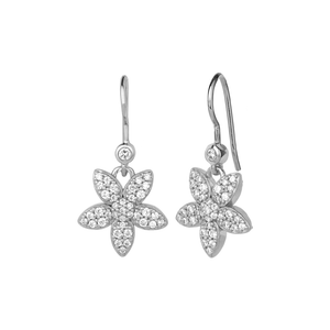 Forget-me-not sparkle earring - silver