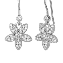 Load image into Gallery viewer, Forget-me-not sparkle earring - silver