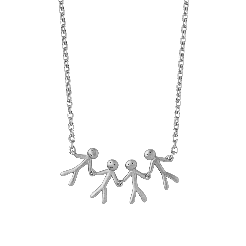 Together Family 4 necklace - silver