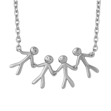 Load image into Gallery viewer, Together Family 4 necklace - silver
